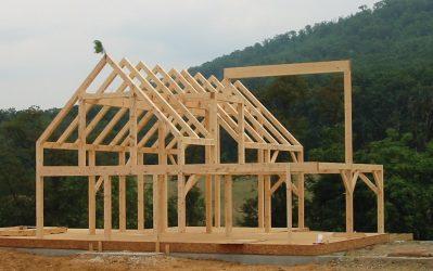 Skeleton frame of timber frame