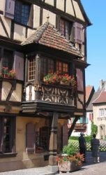 Old timber frame in Alsace