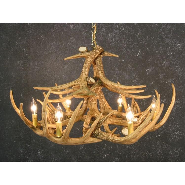 Woodland 12 antler chandelier