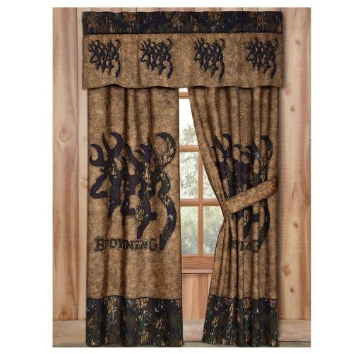 3D Browning Buckmark valance and drapes