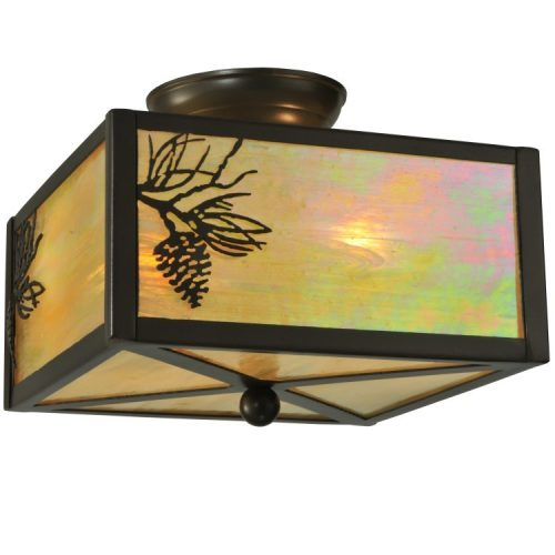 balsam pine flush mount light