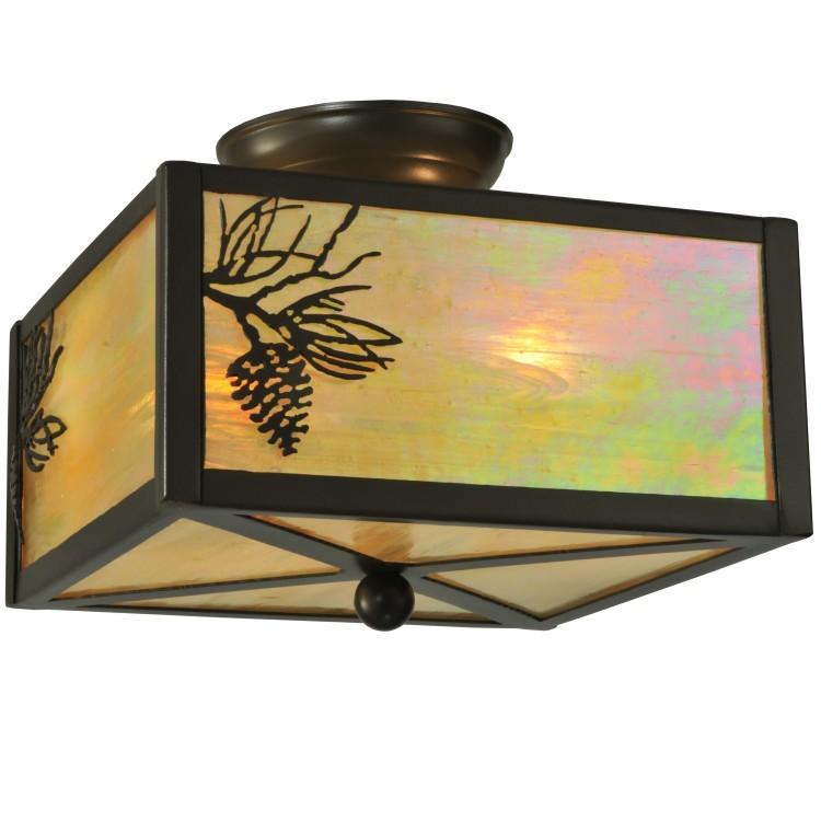 balsam pine flush mount light