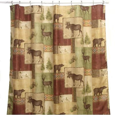 Pretty northwoods shower curtain by Bacova