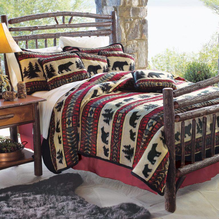 bear adventure fleece bedding