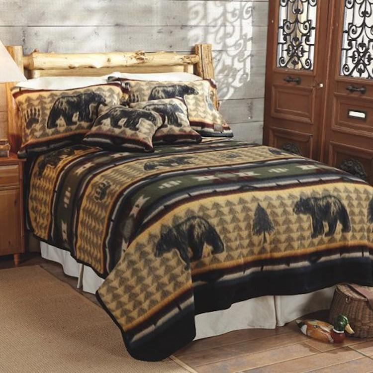 Bear Fever fleece blanket
