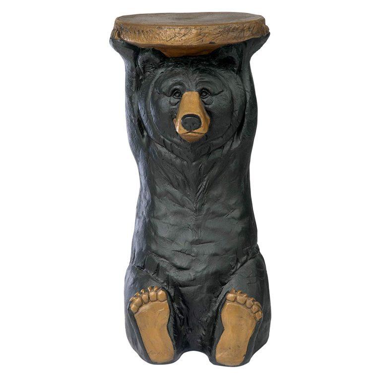 Black bear pedestal table
