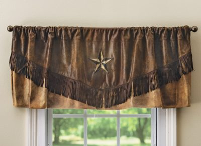 Brown Mustang Star Valance