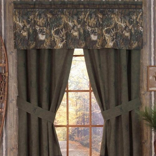 Browning Whitetails drapes and valance