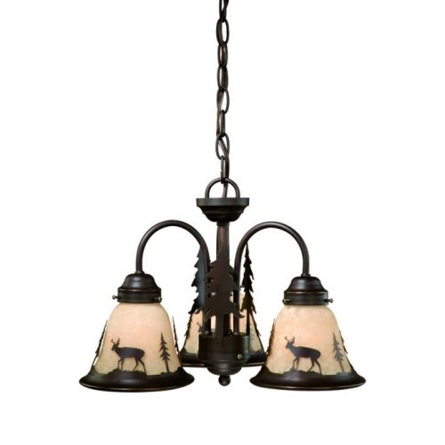 Bryce Deer mini chandelier with 3 lights
