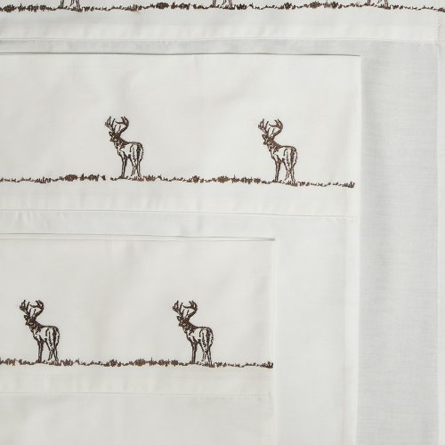 Embroidered buck sheets