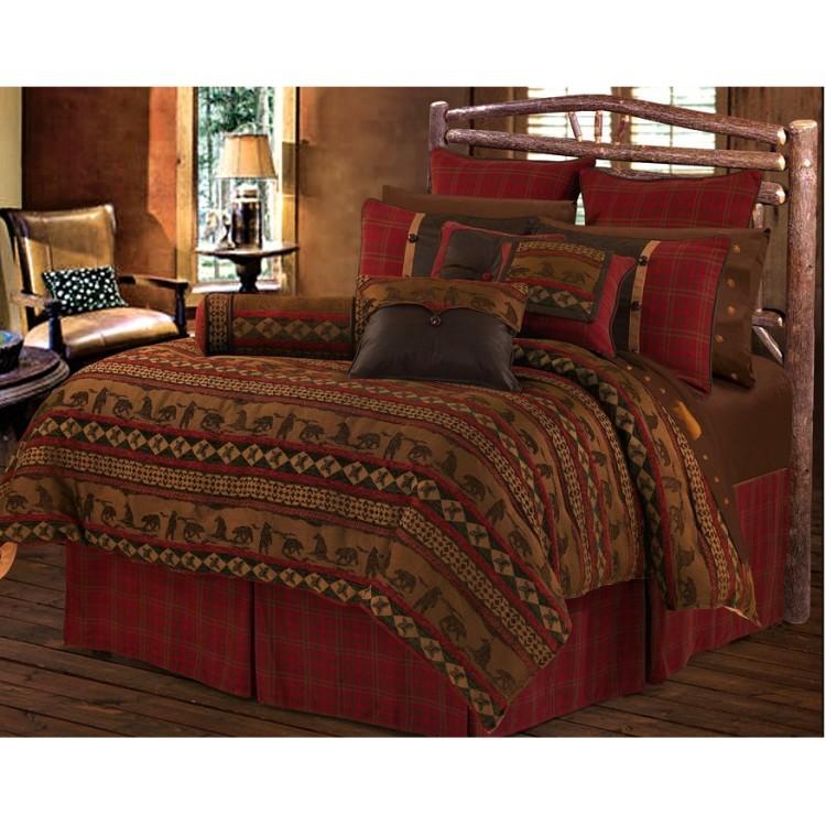 Luxury chenille Cascade Lodge comforter set