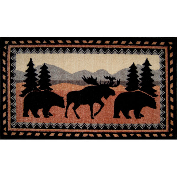 kitchen/bath rug with moose and 2 bears