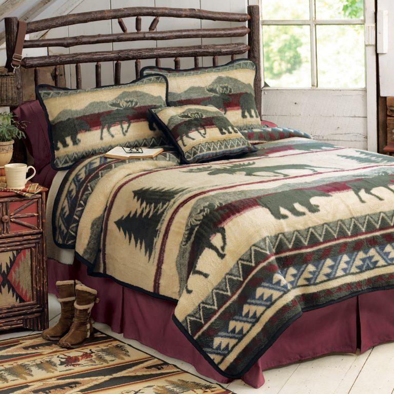 Cedar Run fleece bedding