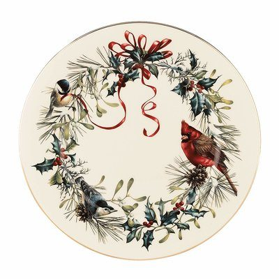 Christmas dinnerware with cardinals