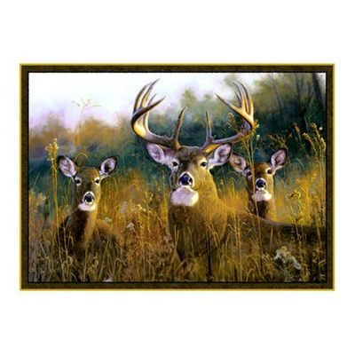 Pretty accent rug with realistic deer