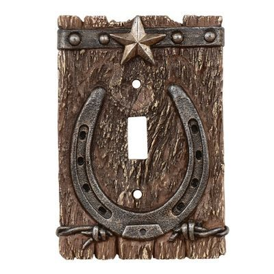 Rustic western theme switch cover