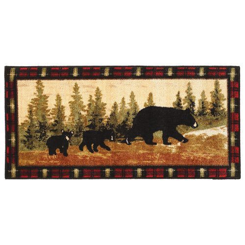 kitchen/bath rug with mama bear and two cubs
