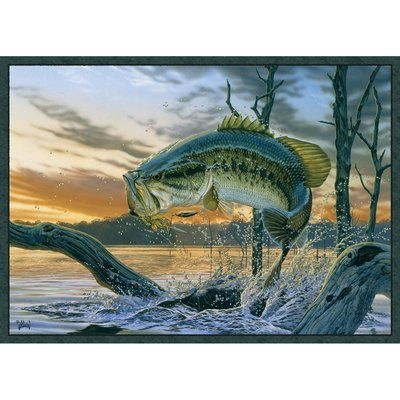 Realistic fish on pretty rug