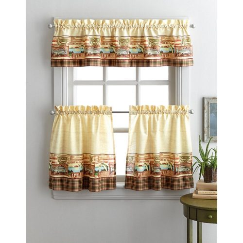 Fishing lodge curtains