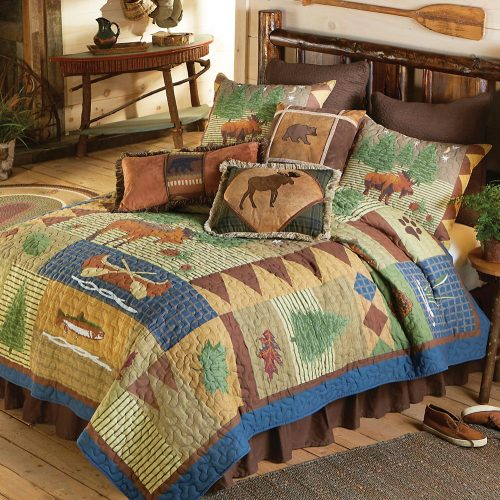 Grand Teton moose and bear quilt