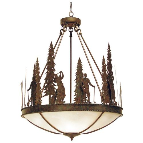 2nd Ave ironwood pendant light