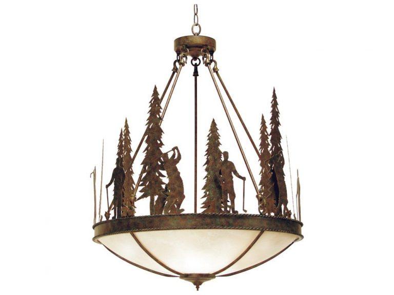 2nd Ave ironwood pendant light