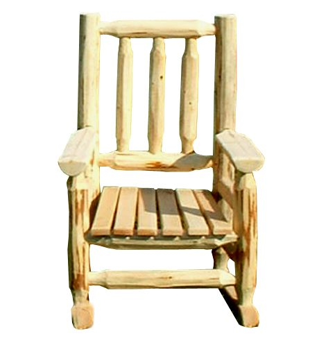 kids log rocking chair