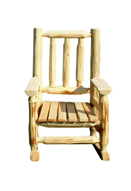 kids log rocking chair