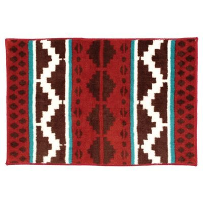 Pretty red Western style kitchen rug
