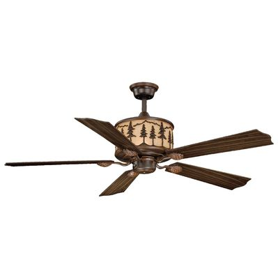 Pretty rustic ceiling fan with metal art