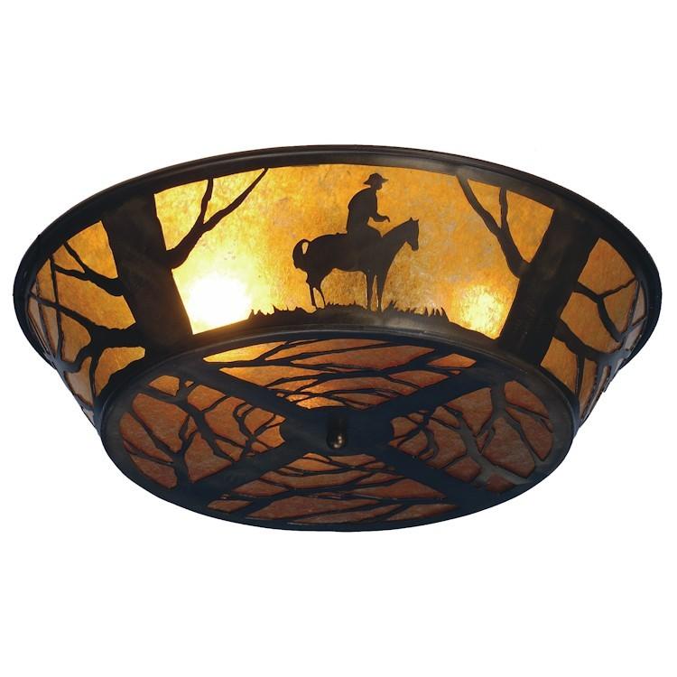 Lone cowboy flush mount ceiling light