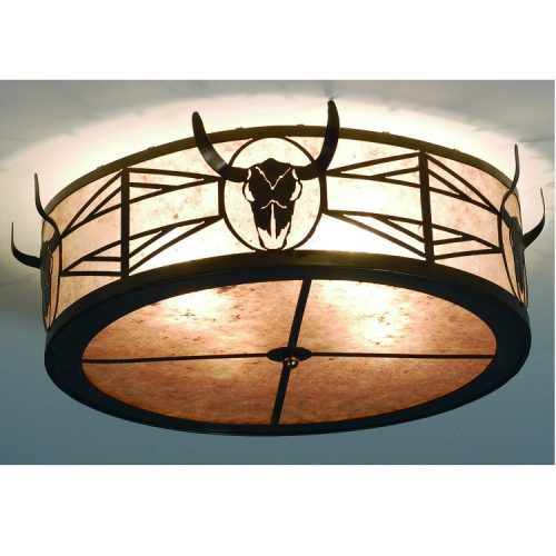 Longhorn Steer ceiling light