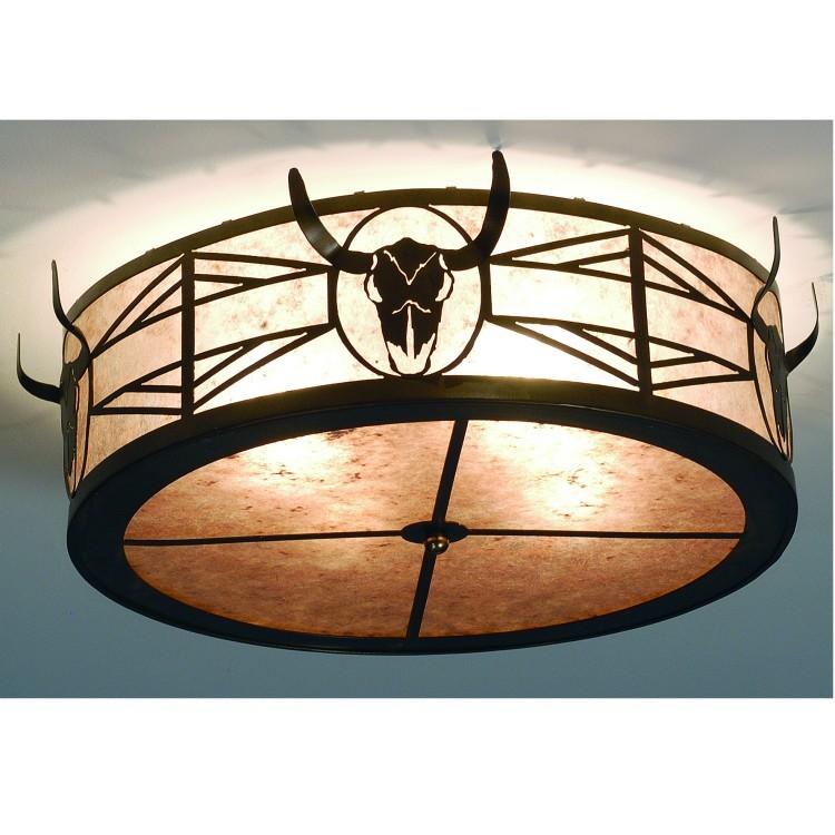 Longhorn Steer ceiling light