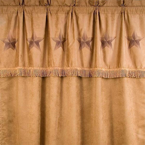 Luxury Star drapes with attached valance