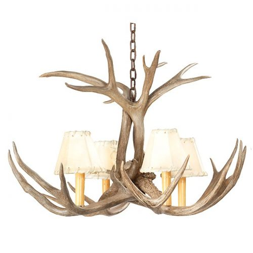 Mini antler chandelier