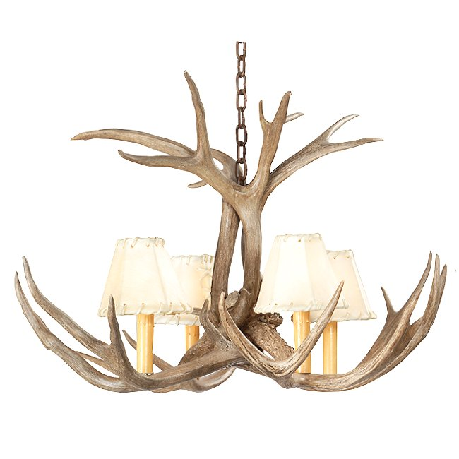 Mini antler chandelier