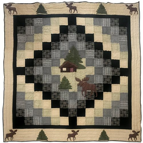 Patch Moose Cabin quilt