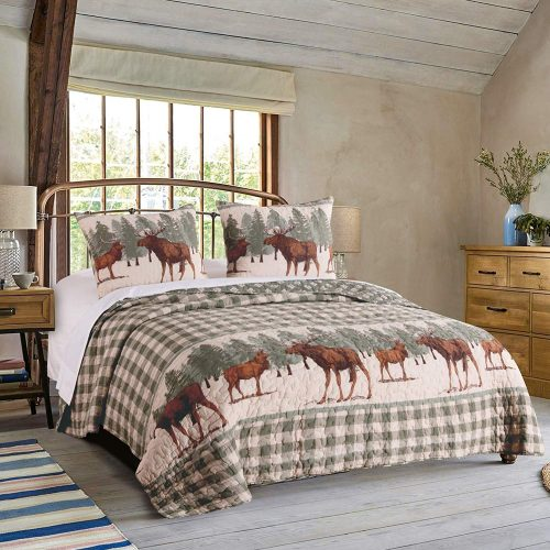 moose creek quilt on bed