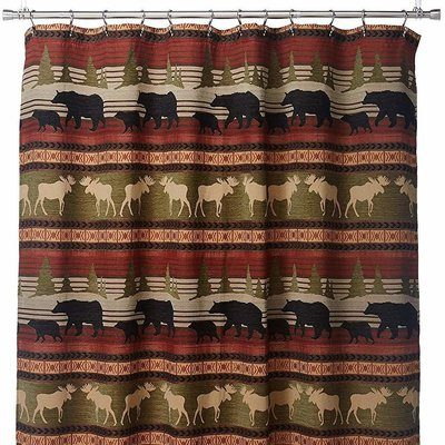 Pretty drapes with wildlife, including moose
