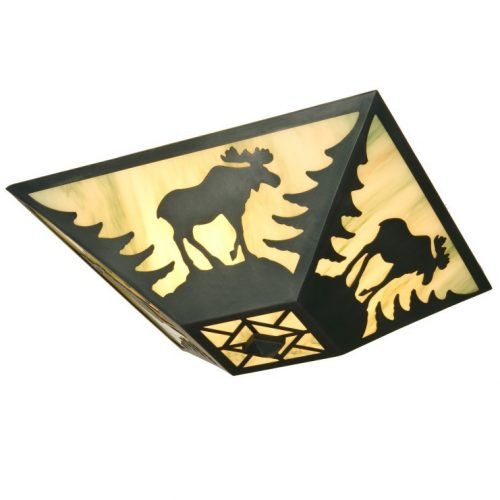 ceiling light with moose