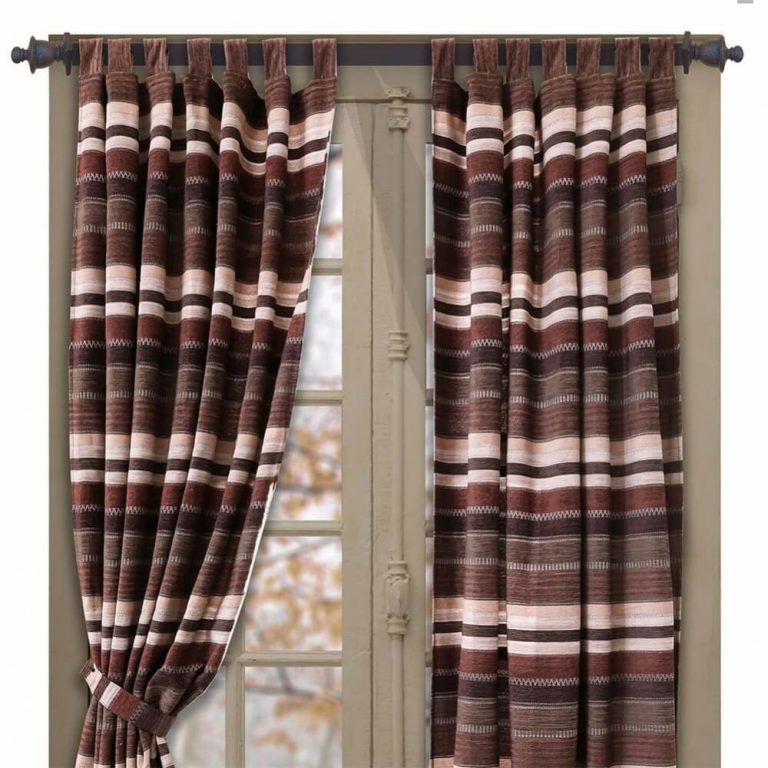 Old West horizontal striped drapes