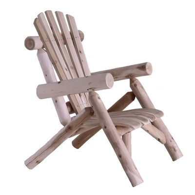 Outdoor Adirondack style log chair