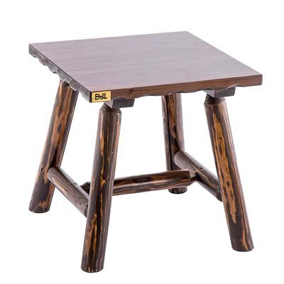 Rustic outdoor side table