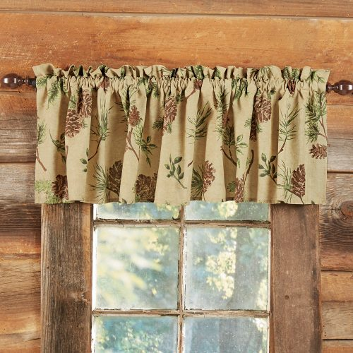 Pine Cone Valley valance