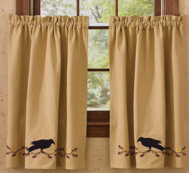 Park Designs primitive crow tier curtains