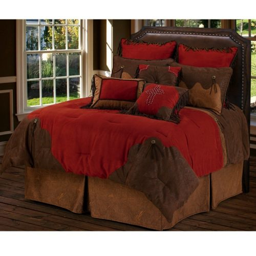 Red rodeo comforter
