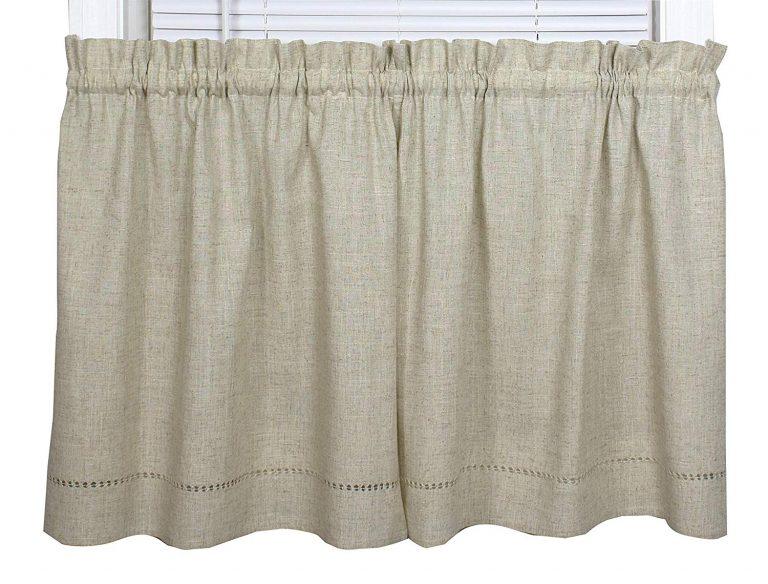 Snapshots linen tier curtains