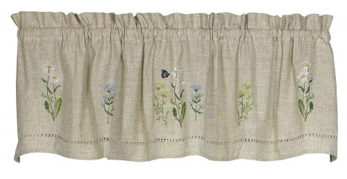 Snapshots embroiderd valance with flowers