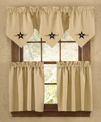 Star vine point valance with matching tiers