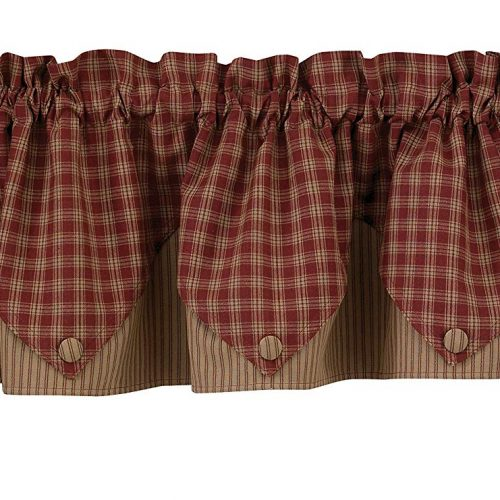 Sturbridge lined point valance